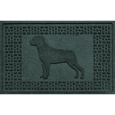 Aqua Shield Rottweiler Doormat Color: Evergreen