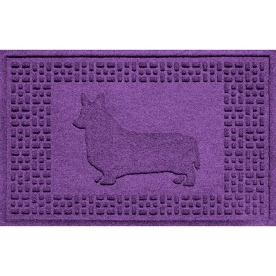 Conway Corgi Doormat Color: Purple