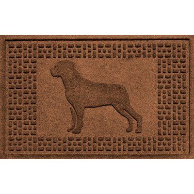 Aqua Shield Rottweiler Doormat Color: Dark Brown
