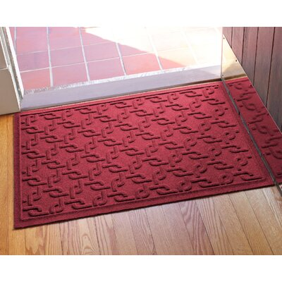 Aqua Shield Interlink Doormat Color: Red/Black