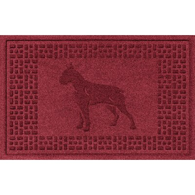 Aqua Shield Boxer Doormat Color: Red/Black