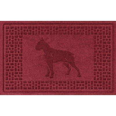 Aqua Shield Boxer Doormat Color: Red/Black