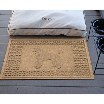 Aqua Shield Poodle Doormat Color: Camel