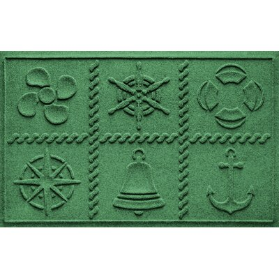 Aqua Shield Nautical Grid Doormat Color: Light Green