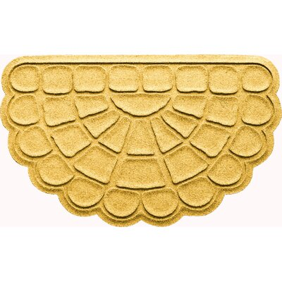 Aqua Shield Cobblestone Slice Doormat Color: Yellow