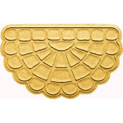 Aqua Shield Cobblestone Slice Doormat Color: Yellow