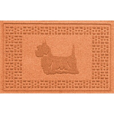 Aqua Shield Yorkie Doormat Color: Orange