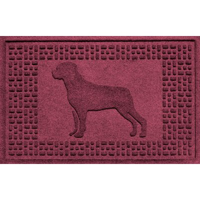 Aqua Shield Rottweiler Doormat Color: Bordeaux