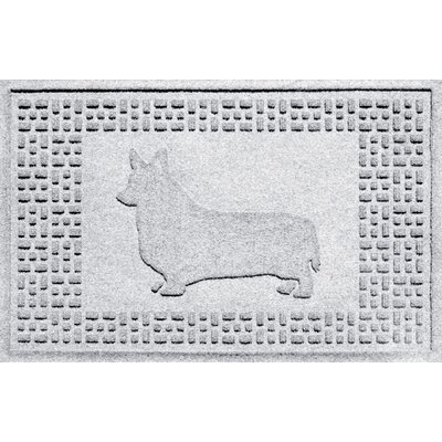 Conway Corgi Doormat Color: White