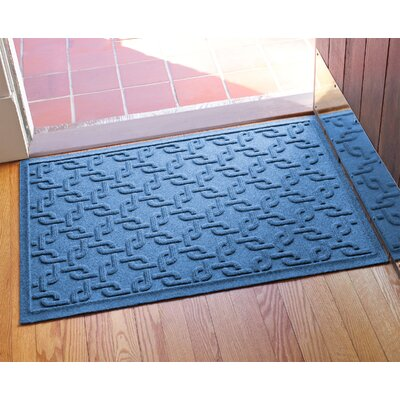 Aqua Shield Interlink Doormat Color: Medium Blue