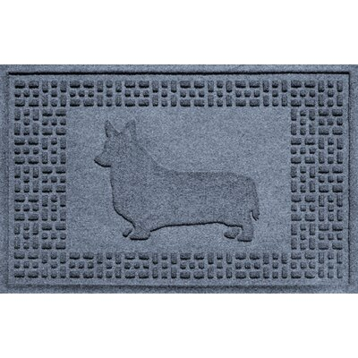 Conway Corgi Doormat Color: Bluestone