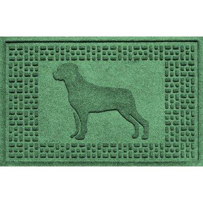 Aqua Shield Rottweiler Doormat Color: Light Green