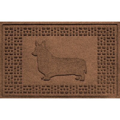 Aqua Shield Corgi Doormat Color: Dark Brown