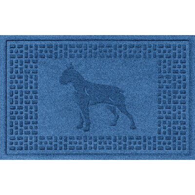 Aqua Shield Boxer Doormat Color: Medium Blue