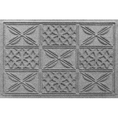 Aqua Shield Patchwork Grid Doormat Color: Medium Gray