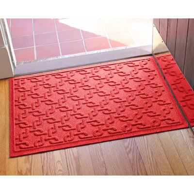 Aqua Shield Interlink Doormat Color: Solid Red