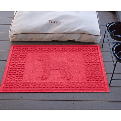 Aqua Shield Poodle Doormat Color: Solid Red
