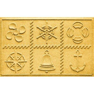 Aqua Shield Nautical Grid Doormat Color: Yellow