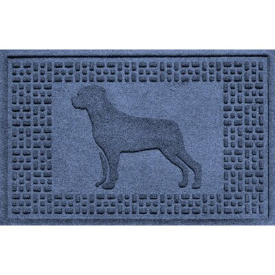 Aqua Shield Rottweiler Doormat Color: Navy