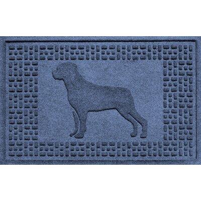 Aqua Shield Rottweiler Doormat Color: Navy