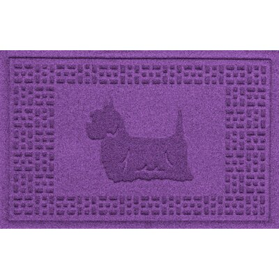 Aqua Shield Yorkie Doormat Color: Purple