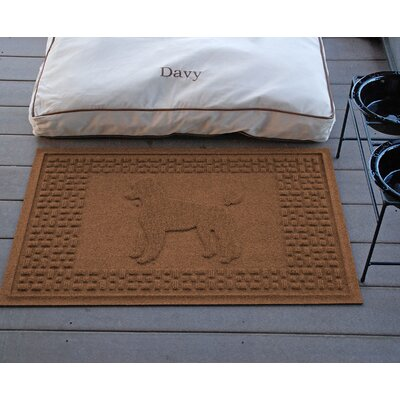 Aqua Shield Poodle Doormat Color: Dark Brown
