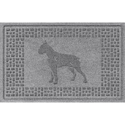 Aqua Shield Boxer Doormat Color: Medium Gray