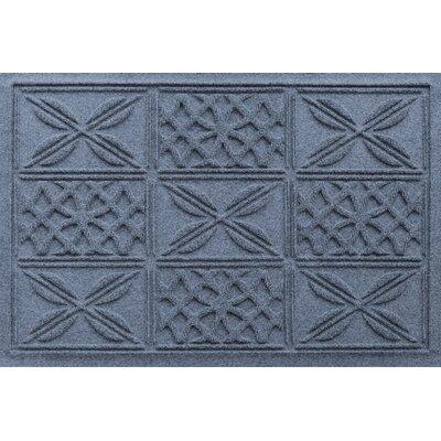 Aqua Shield Patchwork Grid Doormat Color: Bluestone