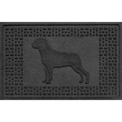 Aqua Shield Rottweiler Doormat Color: Charcoal