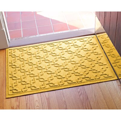 Aqua Shield Interlink Doormat Color: Yellow