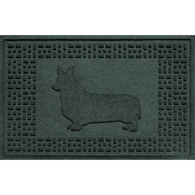 Conway Corgi Doormat Color: Evergreen