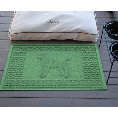 Conway Poodle Doormat Color: Light Green