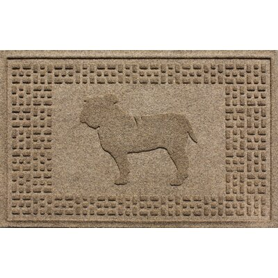 Aqua Shield Bulldog Doormat Color: Camel