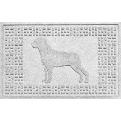 Aqua Shield Rottweiler Doormat Color: White