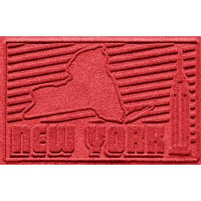 Aqua Shield New York Doormat Color: Solid Red