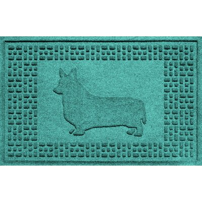 Conway Corgi Doormat Color: Aquamarine