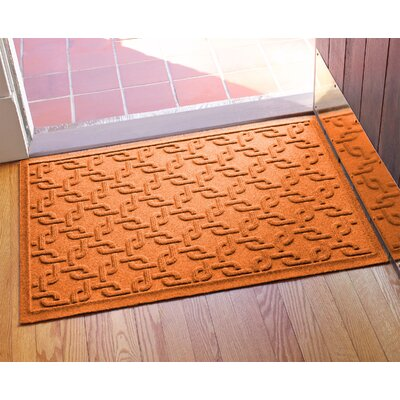 Aqua Shield Interlink Doormat Color: Orange