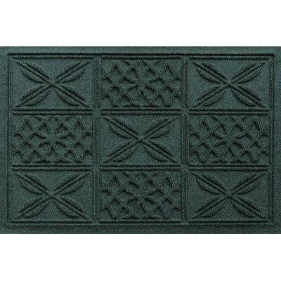 Aqua Shield Patchwork Grid Doormat Color: Evergreen
