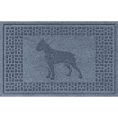 Aqua Shield Boxer Doormat Color: Bluestone