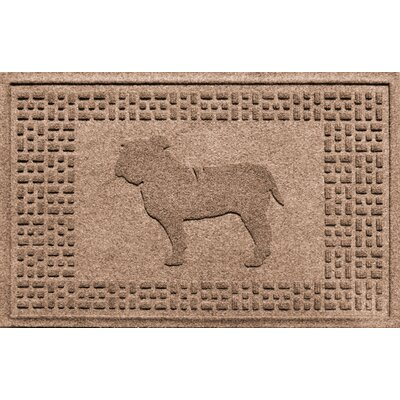 Aqua Shield Bulldog Doormat Color: Medium Brown