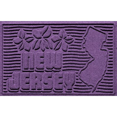 Aqua Shield New Jersey Doormat Color: Purple