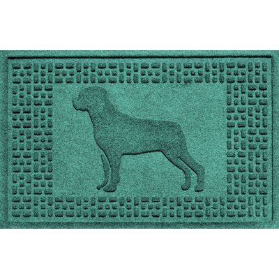 Aqua Shield Rottweiler Doormat Color: Aquamarine