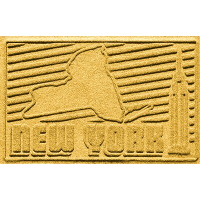 Aqua Shield New York Doormat Color: Yellow