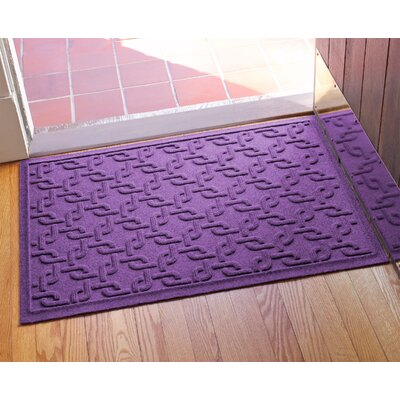 Aqua Shield Interlink Doormat Color: Purple