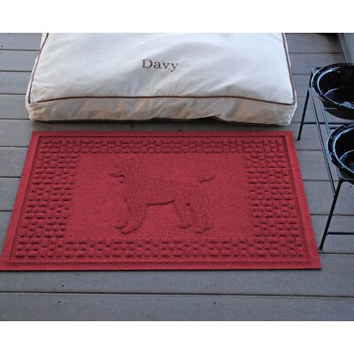 Conway Poodle Doormat Color: Red/Black