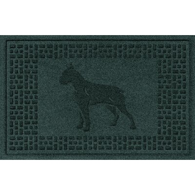 Aqua Shield Boxer Doormat Color: Evergreen