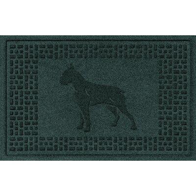 Aqua Shield Boxer Doormat Color: Evergreen