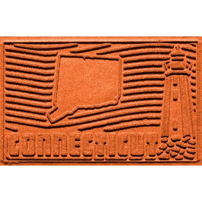 Aqua Shield Connecticut Doormat Color: Orange