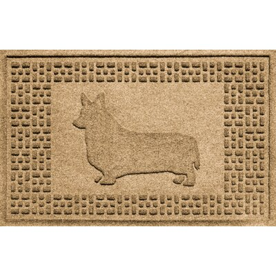 Conway Corgi Doormat Color: Gold