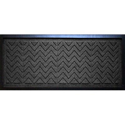 Conway Chevron Boot Tray Color: Charcoal